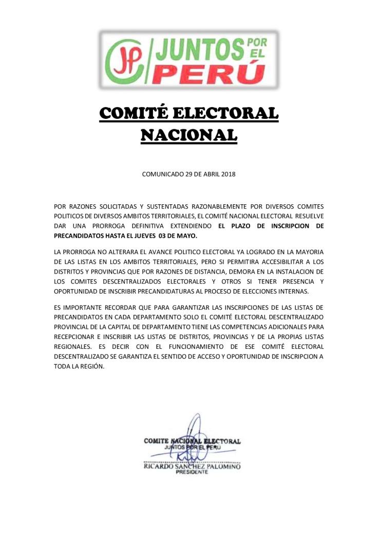 COMUNICADO CNE 29 DE ABRIL-001